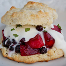 Flaming Berries Shortcake