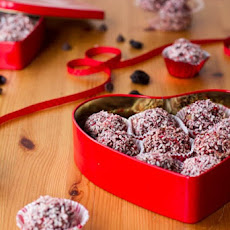 Dark Chocolate Cherry Walnut Truffles