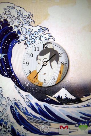 浮世絵時計&壁紙