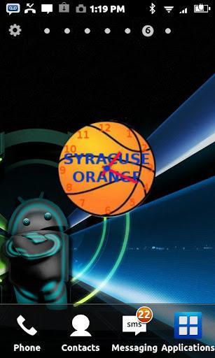 Syracuse Orange Clock Widget