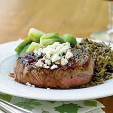Beef Tenderloin Steaks with Port Reduction and Blue Cheese