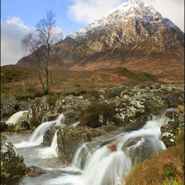 Buachaille Etive Mor by Eric Bush - Landscapes Mountains & Hills ( water, hills., scotland, mountains,  )
