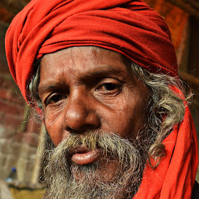 Looking poised... by Arnab Bhattacharyya - People Portraits of Men