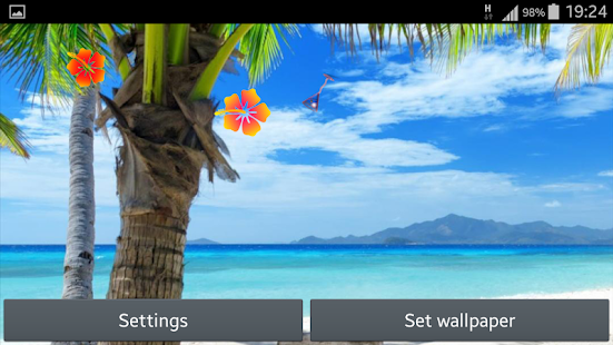 Paradise Live Wallpaper - screenshot