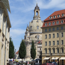 Dresden, Germany by Lori Rider - City,  Street & Park  Historic Districts ( church, monument, germany, dresden, historic,  )