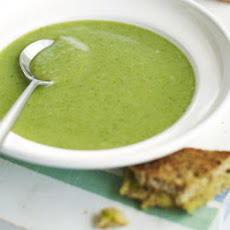 Broccoli Soup With Cheese Toasties
