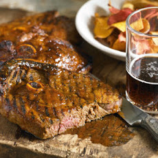 Guinness-Brined BBQ Lamb Steaks