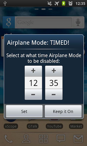 Airplane Mode: TIMED FREE