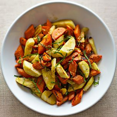 Steam-Roasted Parsnips and Carrots