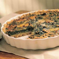 Mushroom-and-Spinach Quiche in an Oat Crust