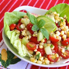 Tilapia with Pineapple Salsa and Tomato-Avocado Salad