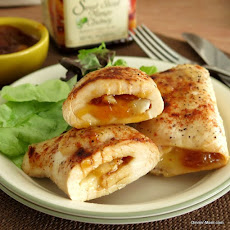 Chicken Roulades Stuffed with Mango Chutney and Brie