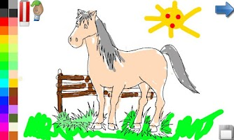 Screenshot of Coloring Book: Horses!