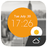 Weather Clock Cool Widget APK Image