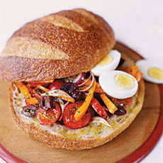 Pressed Summer Sandwich with Eggs and Anchovies