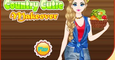 Screenshot of Country girl makeover game