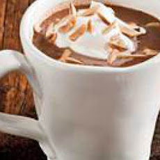 Nougat Hot Chocolate with Whipped Cream