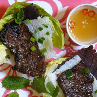Banh Hoi Rice Noodles with Grilled Beef RecipeBanh Hoi Thit Bo Nuong