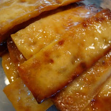 Green Tea and Honey Ginger Baked Tofu