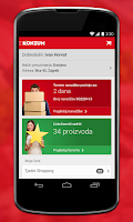 Screenshot of Konzum Mobile Application