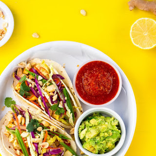 Citrus & Miso Marinated Tofu Tacos