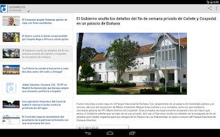 Screenshot of eldiario.es para android