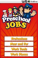 Screenshot of Preschool Jobs, When I Grow Up