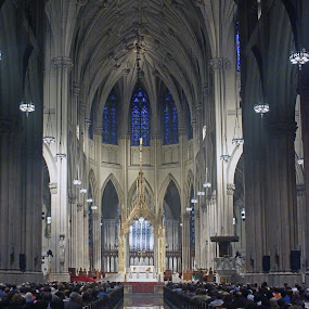Heaven's gate 03 by Jeff Stallard - Buildings & Architecture Places of Worship ( saint peters, church, sanctuary, nyc, new york city )