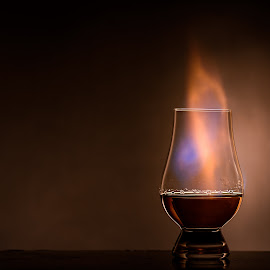 Bourbon on Fire by Stefan Roberts - Food & Drink Alcohol & Drinks ( bourbon, flames, whiskey, scotch, whisky, fire )