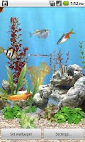 Screenshot of aniPet Freshwater Aquarium LWP