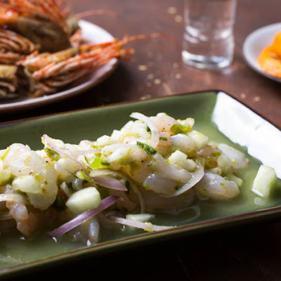 Classic Shrimp Aguachile With Lime, Cucumber, and Red Onion