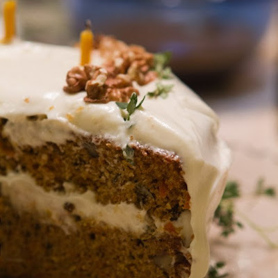 Carrot Cake with Tangy Orange Frosting