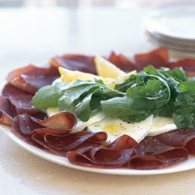 Bresaola with Arugula and Mozzarella