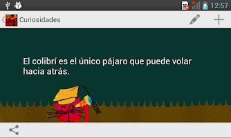 Screenshot of Curiosidades