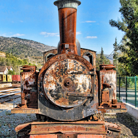 Locomotive by Antonio Amen - Transportation Trains