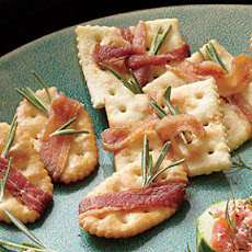 Savory Crisps with Bacon and Rosemary
