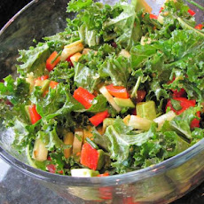 Quick Mix Kale Salad (Raw Recipe)