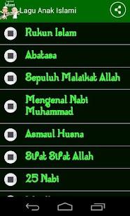 Lagu Anak Islami- screenshot thumbnail