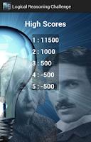 Screenshot of Logical Reasoning Challenge