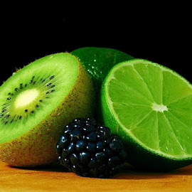 Lime And Blackberry by Janet Skoyles - Food & Drink Fruits & Vegetables