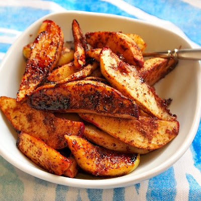 Roasted Apple Slices with Date Honey