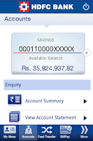 Screenshot of HDFC Bank MobileBanking