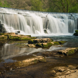 Monsal Weir by Laura Kenny - Landscapes Waterscapes ( water, england, waterfall, weir, derbyshire,  )