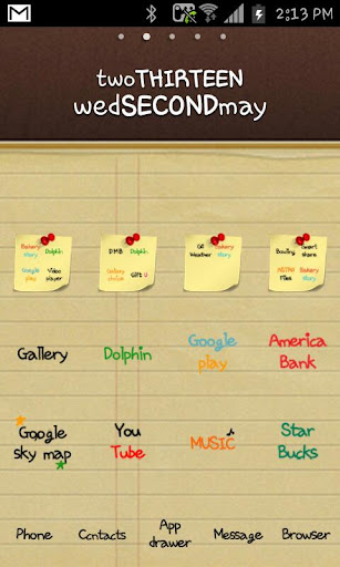 Note Diary Go launcher theme