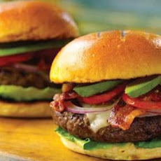 Bacon Swiss Burgers with Tomato and Avocado