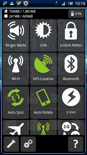 mysettings for android screenshot