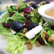 Deliciously Sweet Salad with Maple, Nuts, Seeds, Blueberries, and Goat Cheese