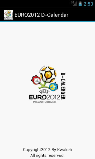 EURO2012 D-Calendar