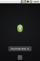 Screenshot of Bluetooth Discoverable