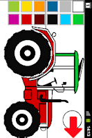 Screenshot of Coloring book Tractor Series